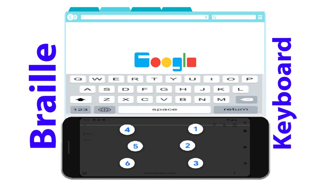 Braille Keyboard a built-in feature by Android